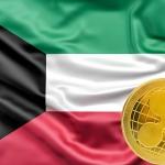 クウェート国旗とXRP